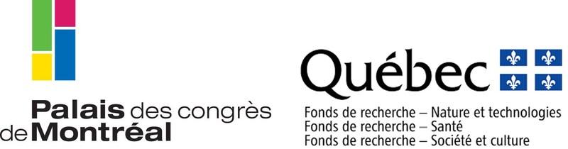 Logos : Palais des congrès de Montréal et Fonds de recherche du Québec (FRQ) (Groupe CNW/Palais des congrès de Montréal)