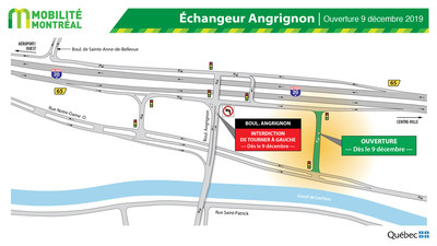 Ouverture dans l'échangeur A20/Angrigon (Groupe CNW/Ministère des Transports)