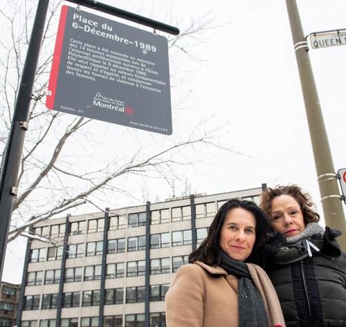Valérie Plante, mayor of Montréal and Sue Montgomery, mayor of Côte-des-Neiges–Notre-Dame-de-Grâce. (CNW Group/Ville de Montréal - Arrondissement de Côte-des-Neiges - Notre-Dame-de-Grâce)