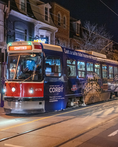 Corby is getting Toronto home safe this New Year's Eve – the TTC is free all night! (CNW Group/Corby Spirit and Wine Communications)