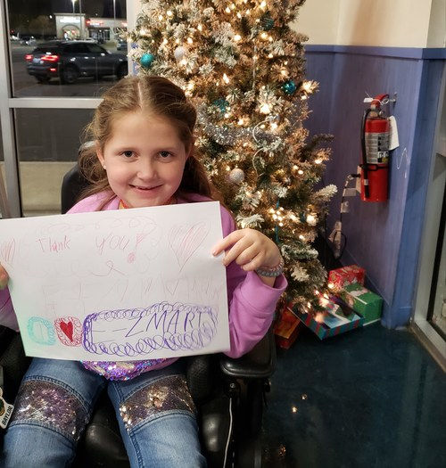 MDA National Ambassador Faith Fortenberry, kicks off the annual GPM Investments 'Tis The Season for Giving' holiday fundraising campaign to support the  Muscular Dystrophy Association.