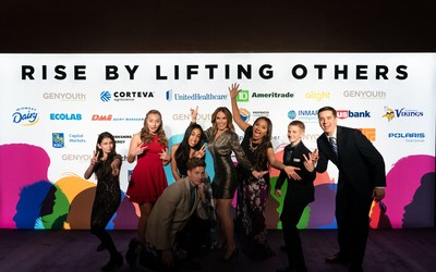 Students from across the nation joined GENYOUth CEO Alexis Glick at the organization's annual fundraising Gala in New York City.  As a public charity dedicated to creating healthier school communities, the students helped host GENYOUth's festivities which included awarding Kevin Warren, Commissioner-Elect of the Big Ten  with the organization's Vanguard Award and recognition of the long-time commitment of America's Dairy Farmers to improving nutrition and physical activity in U.S. schools.
