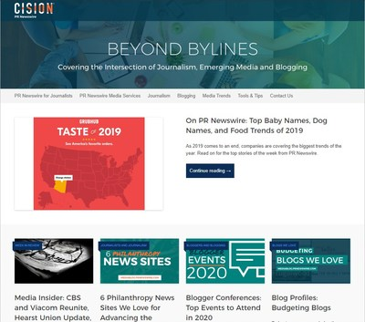 Cision PR Newswire's Beyond Bylines Blog Featured in Feedspot's List of Top Journalism Blogs