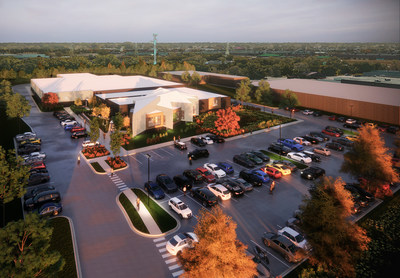 Rendering of Holistic Industries new facility at 29600 Stephenson Highway
