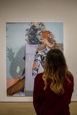Janet Werner, Beast, 2019, Oil on canvas, 243.84 x 187.96 cm, Courtesy of the artist and the Parisian Laundry, Montreal, Photo: Sébastien Roy (CNW Group/Musée d'art contemporain de Montréal)