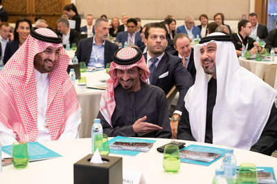 #3 – (left to right) H.R.H. Prince Abdulaziz Bin Faisl Al Saud, Kingdom of Saudi Arabia; H.H. Sheikh Sultan Bin Abdullah Bin Sultan Al Qasimi, UAE; Mohamed Al Banna, CEO & Managing Director, LEAD Ventures - The Office of Sheikh Sultan Bin Abdullah Al Qasimi, UAE.