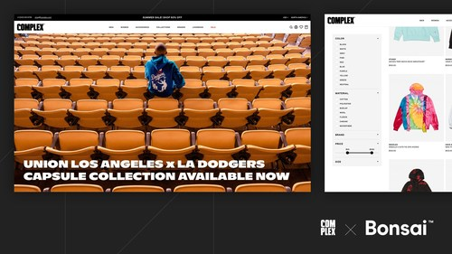 Complex Networks Partners with Bonsai to launch the Complex Shop, a curated marketplace that blends content and commerce (CNW Group/Bonsai)