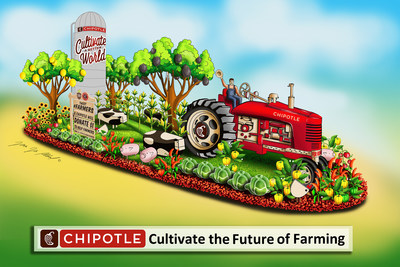 "Chipotle announced that it's participating in the 2020 Rose Parade® presented by Honda with a float, entitled ""Cultivate the Future of Farming,"" that features a live post-to-donate element."