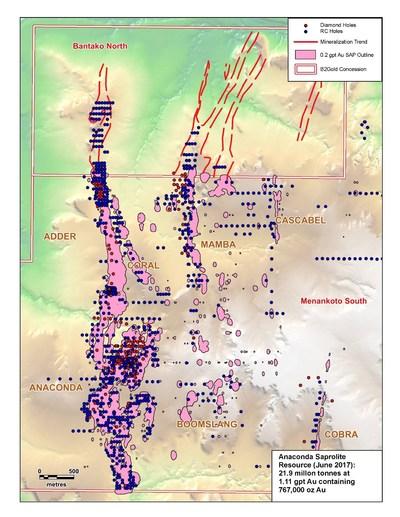 Fig. 2 – Anaconda regional plan map: (CNW Group/B2Gold Corp.)