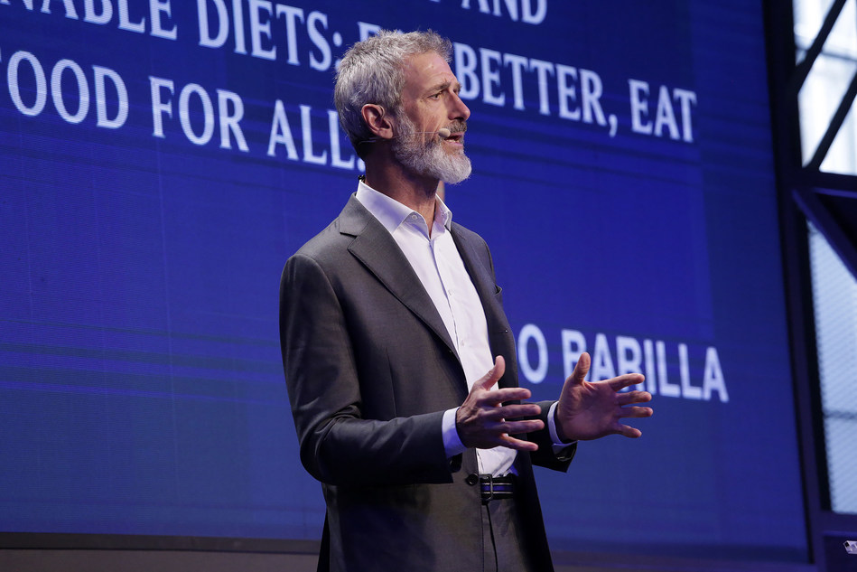 Guido Barilla, President of Barilla Foundation during his speech at the 10° International Forum on Food and Nutrition (PRNewsfoto/Barilla Foundation)