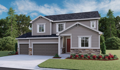 The Hopewell is one of six eye-catching floor plans available at Richmond American's new Stone Creek Ranch community in Parker, CO.
