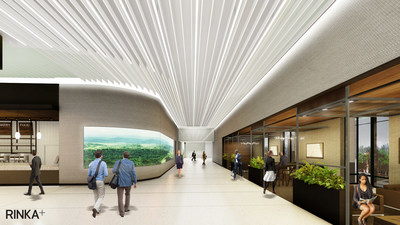 Rendering of the Tower Concourse at the Associated Bank Milwaukee Center