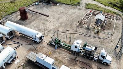 High Pressure LNG Vaporization Aerial Photo