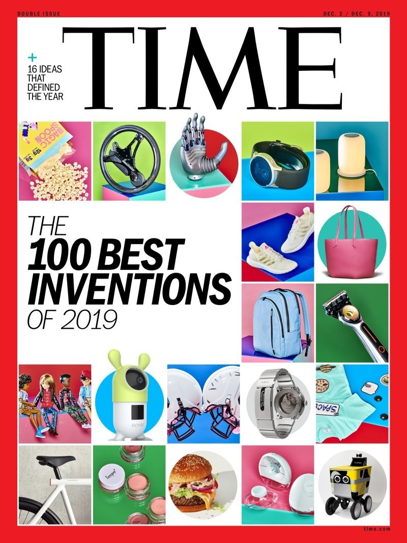 Cover of TIME Magazine's 100 Best Inventions of 2019 Issue (Dec. 2/Dec. 9)