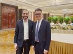 El presidente salvadoreño Nayib Bukele sostiene encuentro con Sun Bo, CMO de Trip.com Group