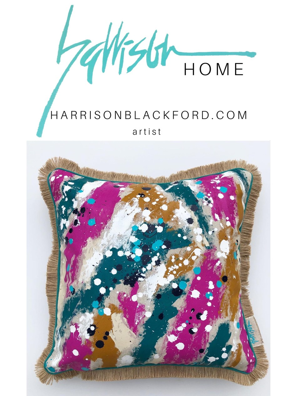 Artist Harrison Blackford releases her latest throw pillow collection just in time for the holiday season.