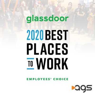 AGS is the only gaming company and one of only 50 companies in the United States selected as a 'Best Place to Work' by anonymous, unsolicited employee reviews on Glassdoor.com.