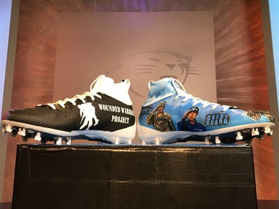 NFL players displayed the Wounded Warrior Project® (WWP) logo on their cleats as part of the NFL's #MyCauseMyCleats campaign. (Photo courtesy: USAA)