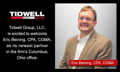 Tidwell Group welcomes Eric Beining, CPA, CGMA, as firm's newest partner