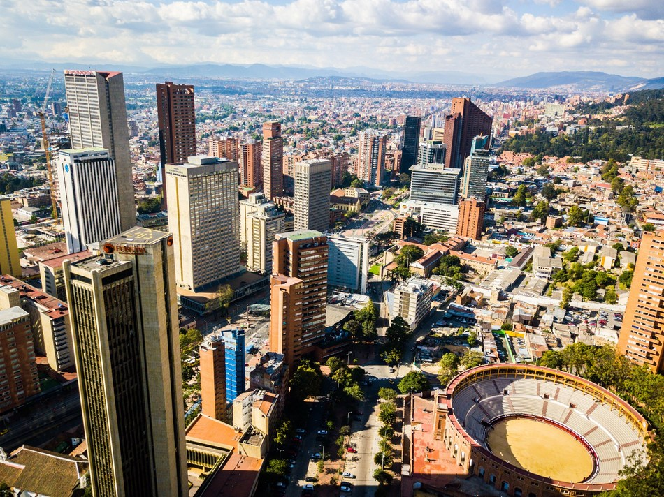 Aerial overview of Bogota, Colombia Courtesy: ProColombia