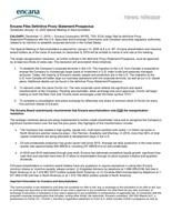 Encana Files Definitive Proxy Statement/Prospectus (CNW Group/Encana Corporation)