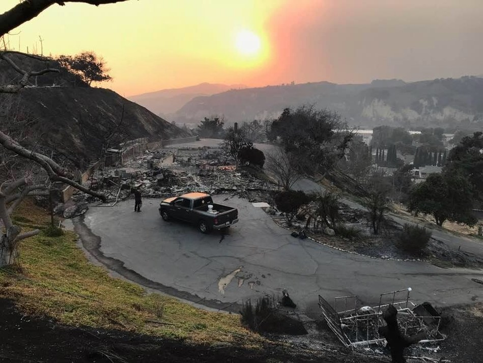 The Merrick family connected with 211 for disaster recovery services after the devastation of their family home in the 2017 Thomas Fire.