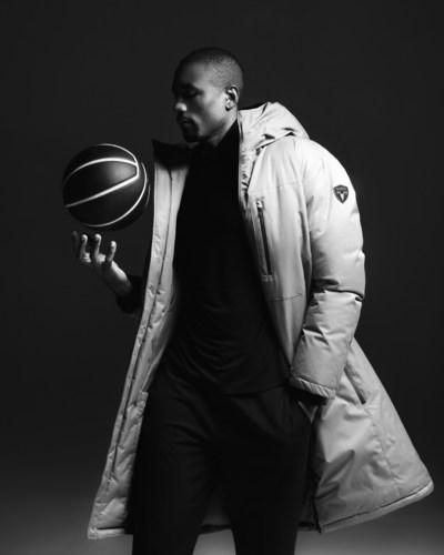 NBA Star Serge Ibaka for Nobis, wearing Nobis' Kane parka (photo credit: Justin Wu). (CNW Group/Nobis)
