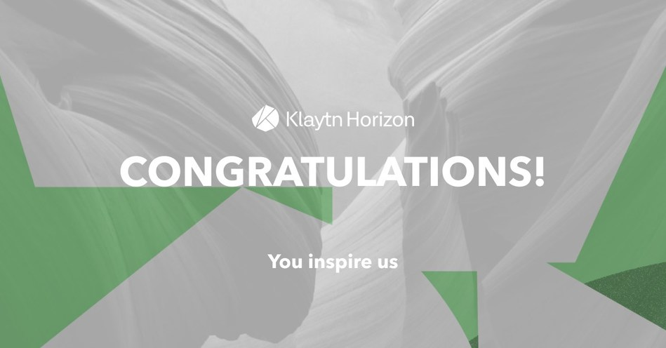 BApp Competition 'Klaytn Horizon' Winners Announced (PRNewsfoto/Klaytn)