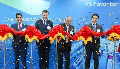 Avantor today officially inaugurated its Innovation and Customer Support Center in Shanghai. Standing from left to right: Narayana Rao Rapolu (VP, Biopharma Asia Middle East Africa), Dr. Ger Brophy (EVP Biopharma Production), Devashish Ohri (EVP, Asia Middle East Africa) and Jeffrey Bao, (GM, China)