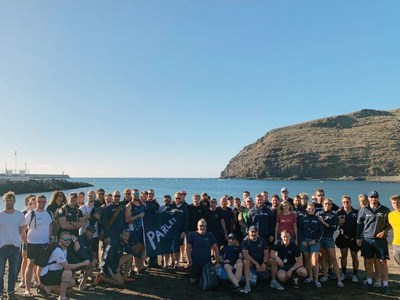 Parley for the Oceans hosted an Ocean School for all rowers taking part in the Talisker Whisky Atlantic Challenge
