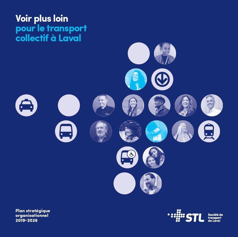Thinking forward about public transit in Laval : The Organizational Strategic Plan for 2019-2028 (CNW Group/Société de transport de Laval)