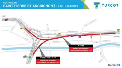 Entraves ? Échangeurs Saint-Pierre et Angrignon (Groupe CNW/Ministère des Transports)