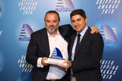 Mr. Marios Iliopoulos, Head of Strategic Planning and Development of SEAJETS with Mr. Lefteris Avgenakis, Deputy Minister of Culture and Sport (PRNewsfoto/SEAJETS)
