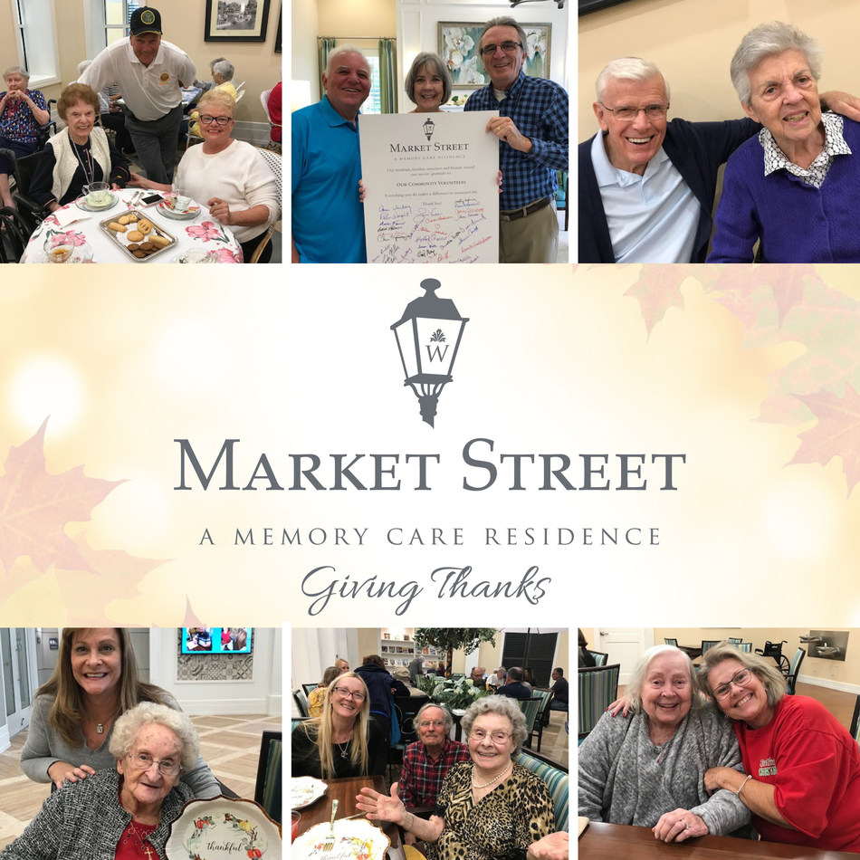 Residents and associates at Market Street Memory Care Residence East Lake enjoyed a month-long initiative of 'Giving Thanks' as part of Watercrest Senior Living Group's Common Unity Initiatives.