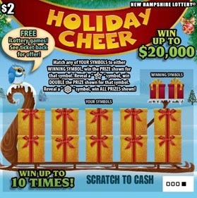 New Hampshire Lottery's Holiday Cheer scratch ticket. (CNW Group/NeoPollard Interactive)