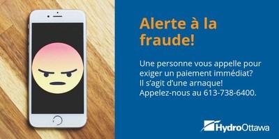 Alerte à la fraude! (Groupe CNW/Société de portefeuille d'Hydro Ottawa inc.)