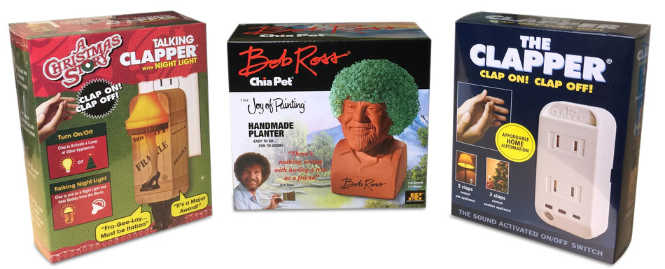 The Holidays Just Got Brighter And Greener With The Clapper And Ch Ch Ch Chia Chia Pet