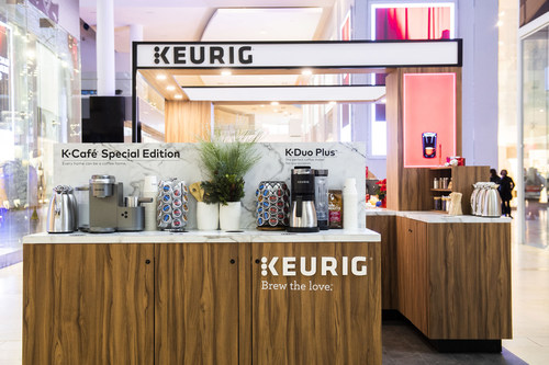 The Keurig® Boutique at Yorkdale Shopping Centre is the ultimate shopping destination for coffee lovers, opened until December 23rd (CNW Group/Keurig Canada)