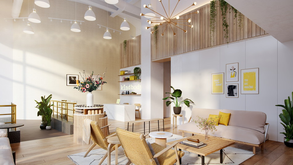 Rendered image of Kindbody's SF clinic at launch next month
