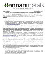 Hannan Doubles Land Position at Sacanche to 60km Strike in Peru (CNW Group/Hannan Metals Ltd.)