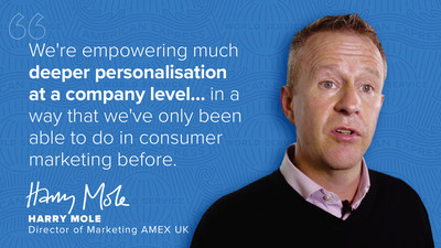 Harry Mole, Director of Marketing, American Express UK, explains how Growth Intelligence is enabling deeper personalisation at a company level.