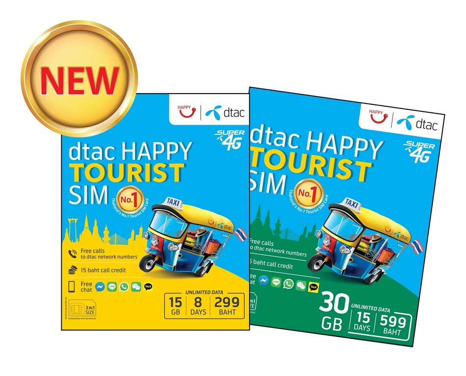 """dtac', most preferred tourist SIM in Thailand, introduces new """"dtac Happy Tourist SIM"""" for Russian visitors to Thailand"""