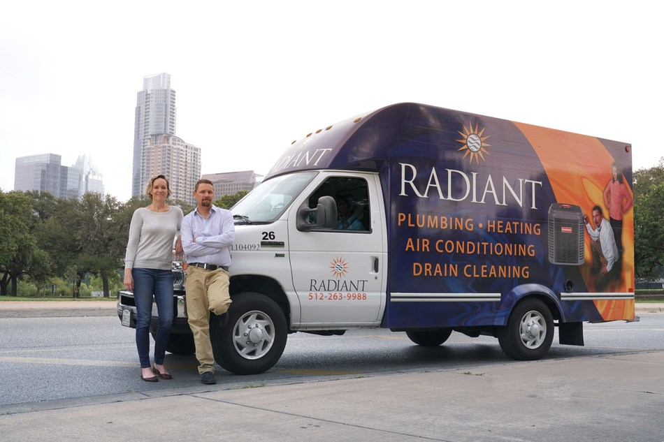 Radiant Plumbing owners, Brad and Sarah Casebier, host a drawing to select the internal department that receives the honor of choosing which community in the world receives a project donation. To date, the company has provided donations for five water projects.