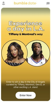 Bumble Teams Up with Emmy-Winning Actress Tiffany Haddish and Montrezl Harrell of the L.A. Clippers to Surprise Bumble Users on First Date