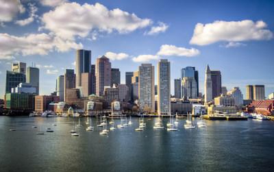 Boston skyline from waterfront. (CNW Group/WESTJET, an Alberta Partnership)