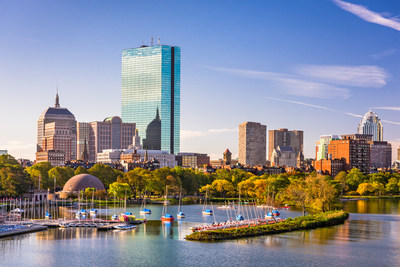 Boston, Massachusetts, USA city skyline on the river. (CNW Group/WESTJET, an Alberta Partnership)