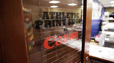 Canon Solutions America's athletic print shop at the University of Notre Dame
