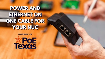 Power and Send Data to Your NUC with One Cable.