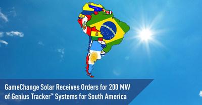 GameChange Solar recibe pedidos por 200 MW de sistemas Genius Tracker™ para América del Sur