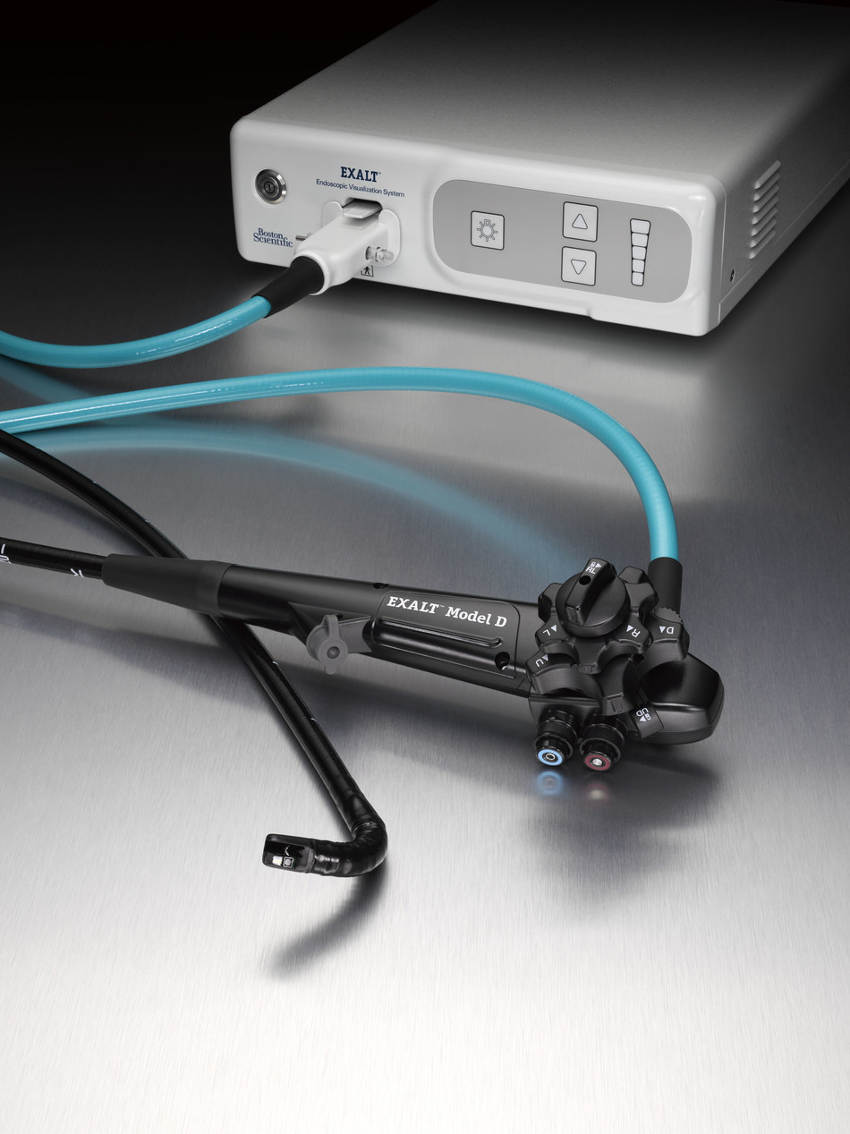 EXALT(tm) Model D Single-Use Duodenoscope from Boston Scientific.